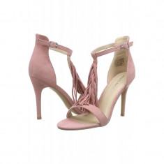 Sandale Piele Intoarsa Vero Moda Elisabeth Rose Dust