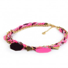 Colier Pieces Manillo Neon Pink