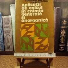 """V. T. Marculetiu - Aplicatii de calcul in chimia generala si anorganica """"A5127"""""""