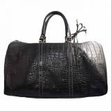 Geanta voiaj, din piele naturala, marca Desisan, 505-18-01-26, negru