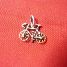 Miniatura - Medalion -Bicicleta -1,5 cm , marcaj pe anou