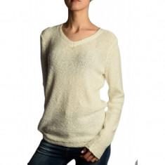 Pulover Bumbac B Young Marla V-neck Alb