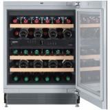 Vitrina frigorifica incorporabila Liebherr Premium UWT 1682, 95 l, 5 rafturi, Inox