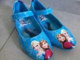 Pantofi copii FROZEN-balerini albastri -Anna si Elsa disney- 36
