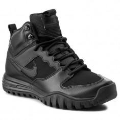 Nike Dual Fusion Hills Mid Leather -cod produs -695784 004- original, 41, 42, 42.5, 43, 44, 44.5, Negru, Piele naturala