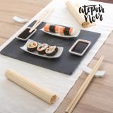 Set de Sushi cu Tava din Ardezie Atopoir Noir (11 piese)