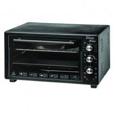 Cuptor electric Zilan Helson, 45 l, 1700 W, timer, interior emailat, negru foto