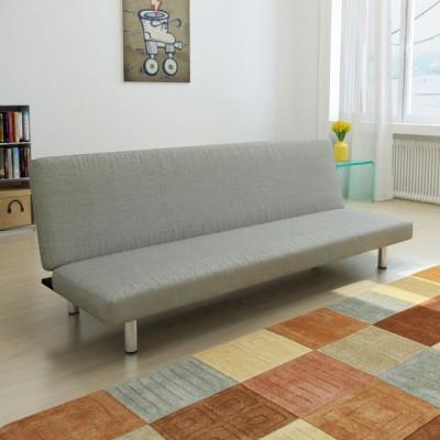 Canapea extensibilă, gri închis foto