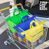 Pungi Organizatoare pentru Cumparaturi si Portbagaj Cart Car Bags (set de 4)