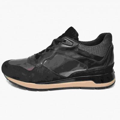 Pantofi sport dama, din piele naturala, marca Geox, D62N1-01-06, negru, marime: 39 foto