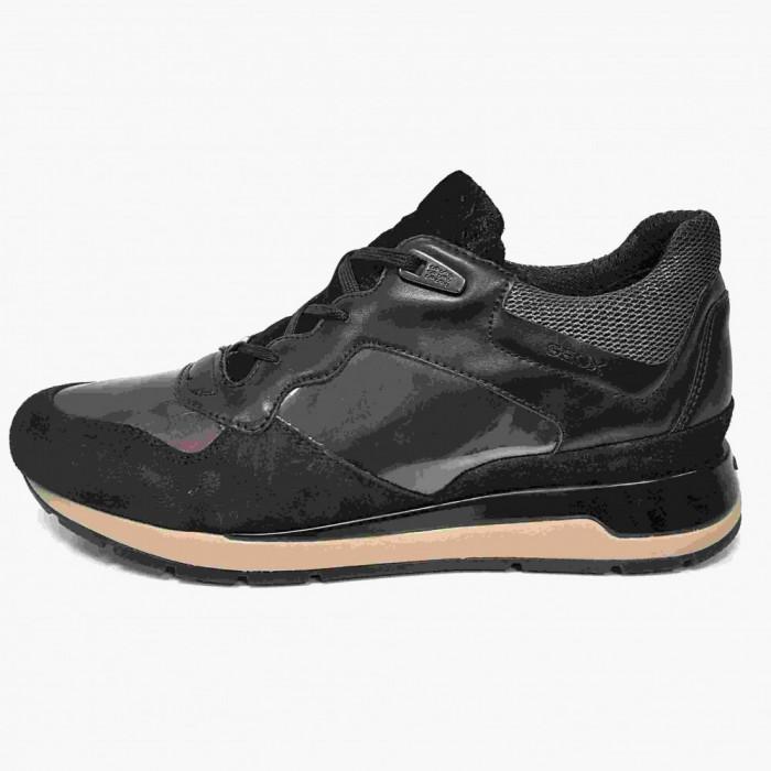 Pantofi sport dama, din piele naturala, marca Geox, D62N1-01-06, negru, marime: 39