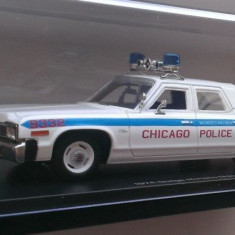 Macheta Dodge Monaco Politia Chicago 1974 - AutoWorld (ERTL) 1/43