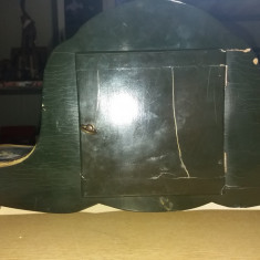 Ceas de semineu cu quartz din lemn