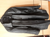 Haina jacheta neagra din piele dama, Negru