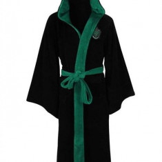 Halat De Baie Slytherin Harry Potter Fleece Bathrobe Black Green