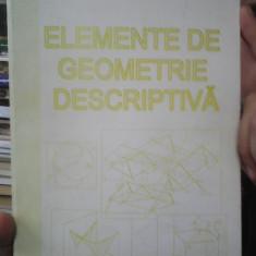 ELEMENTE DE GEOMETRIE DESCRIPTIVA IONEL SIMION 2005 80 PAG
