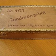Cutie tigarete de lemn,  Nr.405 SONDERANGEBOT, 25 X12 X 7 cm