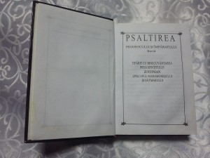 PSALTIREA Prorocului si Imparatului DAVID,Prea Sfintitul JUSTINIAN,carte vintage
