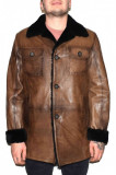 Cojoc barbati, din blana naturala, marca Kurban, 142-02-95, maro, marime: XL