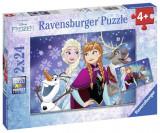 PUZZLE FROZEN, 2x24 PIESE, Ravensburger