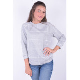 Bluza Pieces Rie 3/4 Light Grey Melange, L, M, S, XL, XS, Gri