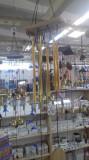Clopotei de vant metalici cu 6 tuburi aurii