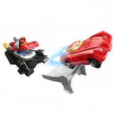 Set Hot Wheels Marvel Avengers Iron Man Armor Up Track, Mattel