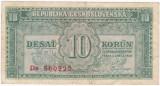 CEHOSLOVACIA 10 coroane 1950  VF P-69