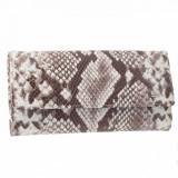 Portofel dama, din piele naturala, marca Desisan, 150-18-H7-26, maro print