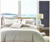 Lenjerie pentru pat matrimonial, din bumbac dublu satinat, gri,4 piese, 230x250 cm