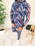 Trening barbati albastru PREMIUM - Bluza + Pantaloni - COLECTIE NOUA - A2438, L, M, S, XL, XXL, Din imagine, Nocciola