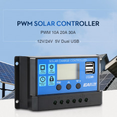 Controler/regulator panouri solare fotovoltaice 12/24 v, 30A PWM