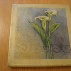 Tablou ,ulei pe panza 20 x 20 cm, Flori, Altul
