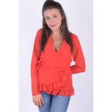 Bluza Pieces Mabel Wrap Rosu, L, M, S, XS