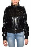 Haina dama, din piele naturala, marca Kurban, 14-01-95, negru, marime: S