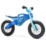 Bicicleta de lemn fara pedale Toyz Enduro Albastru
