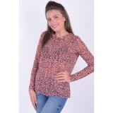 Cumpara ieftin Bluza Pieces Lea Mesh Blooming Dahilia, L, M, S, XS, Roz