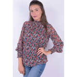 Bluza Florala Pieces Amper Black All Over, L, M, S, XS, Multicolor