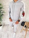 Trening barbati gri PREMIUM - Bluza + Pantaloni - COLECTIE NOUA - A2420