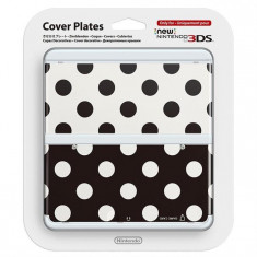 Carcasa Nintendo Official Cover Plate For New 3Ds Black & White Polkadots