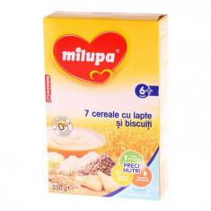 Milupa 7 Cereale Cu Lapte Si Biscuiti, 250G, 6Luni+