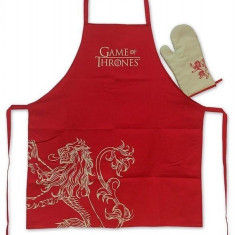 Sort Si Manusa Bucatarie Game Of Thrones Lannister Apron And Oven Mitt