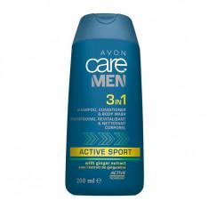 3în1 Șampon, balsam și gel de duș Avon Care Men Active Sport