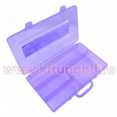 Cutie Compartimentata - Recipient Nail-Art cu 4 sloturi Purple Rain