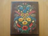 Pictura ulei pe lemn( 18 mm ) 25 x 31 cm, Flori, Altul