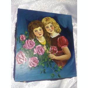 Pictura veche,colectie,tablou fara rama,Superb pictat pe panza SEMNAT,T.GRATUIT