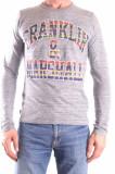 Tricou barbati Franklin & Marshall 101936 grey, L, Franklin & Marshall