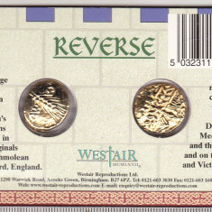 Bnk mnd Set 2 reproduceri dupa monede celtice - in folder, Europa