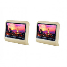 SET DVD player + 1 Monitor pentru tetiere BEJ cu TOUCHSCREEN AL-260918-13
