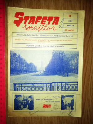 REVISTA PIONIERI - STAFETA ISTETILOR 1970 foto